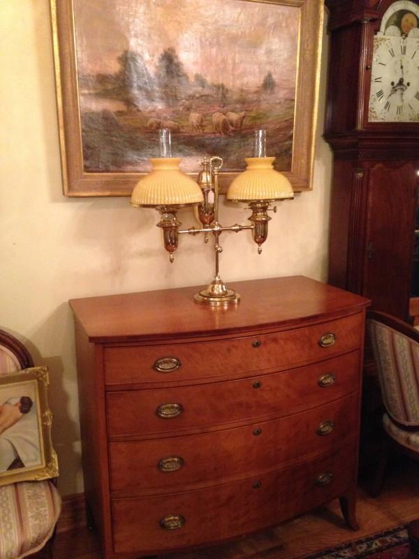 Cherry Hepplewhite Chest, Period Brasses, Circa 1815 - Furniture |