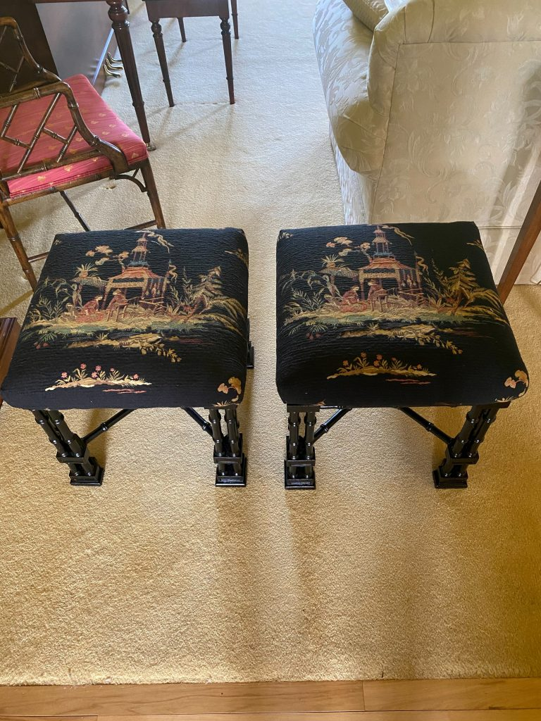 Matching Chinoserie Benches