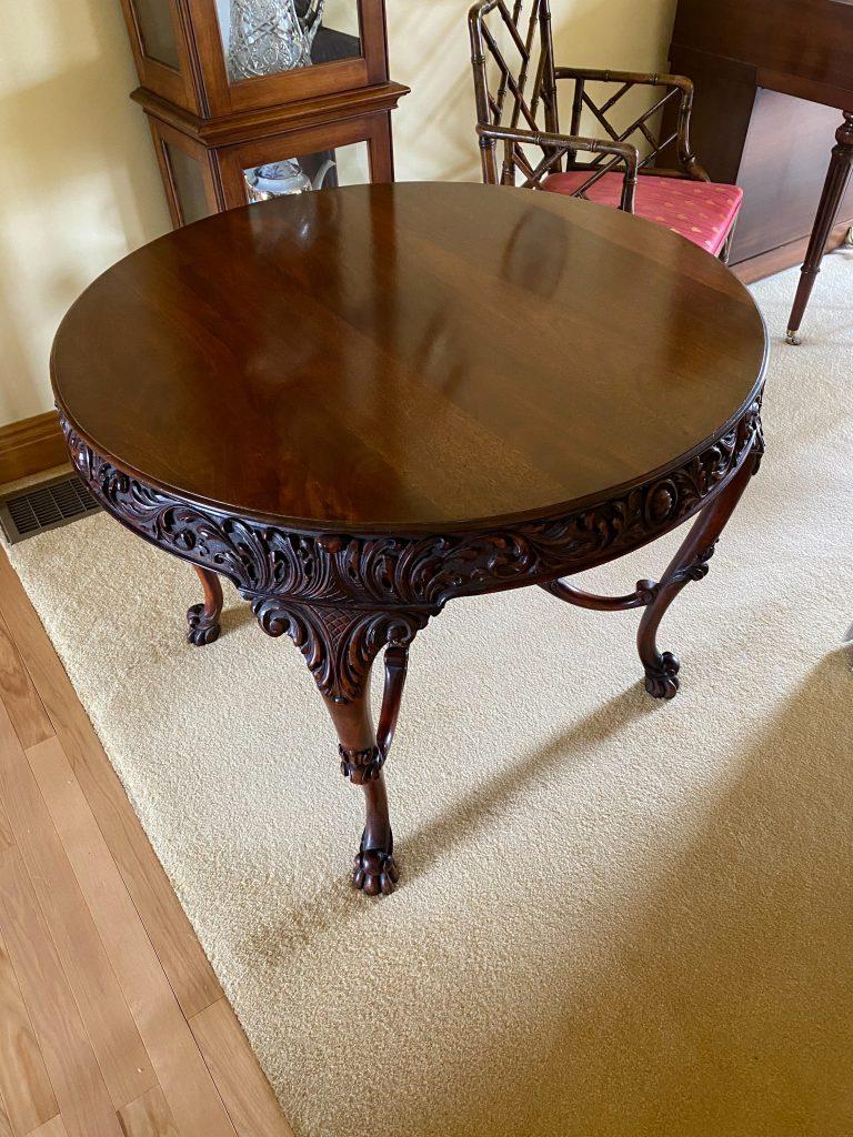 Irish Carved Center Round Table